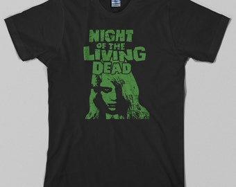 Night of the Living Dead T Shirt - george romero, zombie, dawn, day, horror, cult - Graphic Tee, All Sizes & Colors