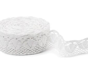 White 100% Linen Lace. Pure Linen Lace. Flax Lace. White Linen Thread / Linen Fabric / Linen Supplies