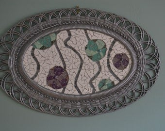 Mosaic with abstract flowers
