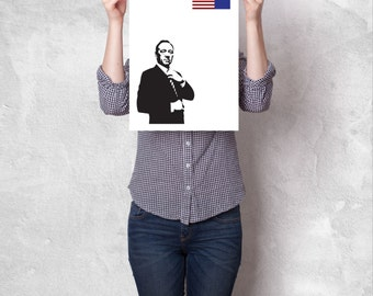 House of Cards TV Poster: 12x16 || House Of Cards Alternate Poster || Minimalist Poster ||  Kevin Spacey || Netflix's
