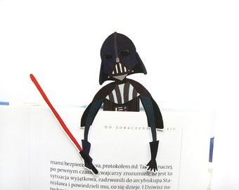 Darth Vader printable bookmark - star wars the force awakens, birthday gift, gift for him, gift for her, gift for friends, reading book