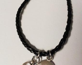 "Black ""Believe in Hope"" awareness bracelet"