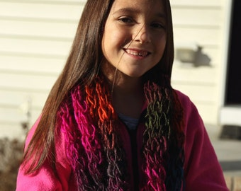 Colorful cowl infinity scarf