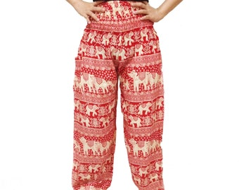 Comfy Yoga Pants Wide Leg Pants Red & White Color (YG01-2)