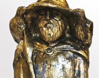 Odin - Handmade gilded sculpture