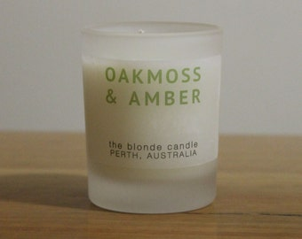 Oakmoss & Amber - Candle Scented Soy Wax Votive 18+ hour burn