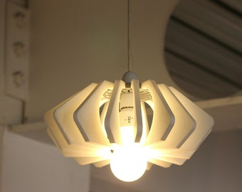 3D Printed Light,3D Printed Lamp Shade,3D Printed Light Pendant,Wave Lamp Shade,Minimalistic Light,Futuristic light,Accent light