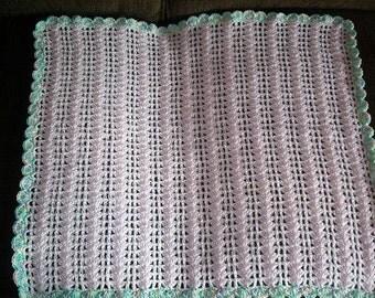 Soft shells Crochet baby afghan, crochet baby blanket