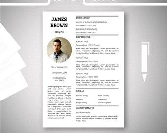 one page resume template cover letter template for microsoft word nr5 cv template