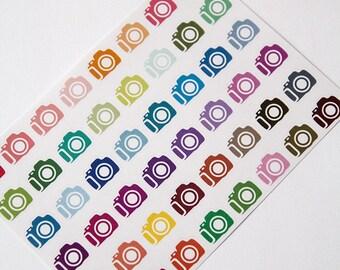 Camera sticker, photography sticker, planner sticker, photoshoot sticker, photo day reminder calendar blog eclp filofax happy planner kikkik