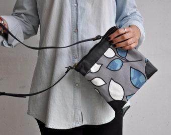 black leather bag, messenger bag, crossbody bag, foldover clutch