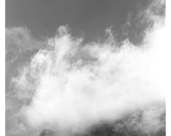 landscape fotography black white, fog, stone, rock, A2, fine art print