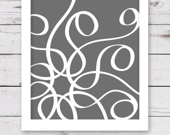 Charcoal Gray Art, PRINTABLE Artwork, INSTANT DOWNLOAD, Abstract Art, Gray Wall Art, Gray Art, Printable Wall Art, Art Print, Wall Decor