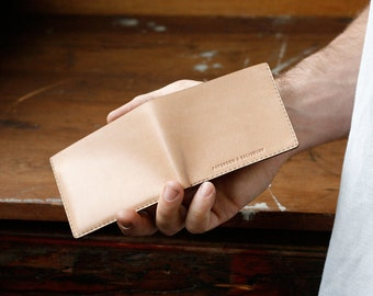 Kangaroo Leather Slim Wallet, Australian, Natural, Hand Stitched, Billfold Wallet, Leather Wallet, Personalised, Personalized, Card Holder