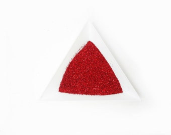 """Holographic Laser Red Loose Ultra Fine Glitter, .008"""" Hex"""