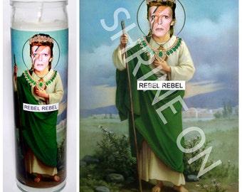 David Bowie Ziggy Stardust Celebrity Prayer Candle