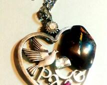 """Necklace Opal boulder d Australia """"Peace, Pace, peace... """""""