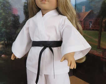 18 Inch Doll Clothes - Karate Pants, Jacket & Belt