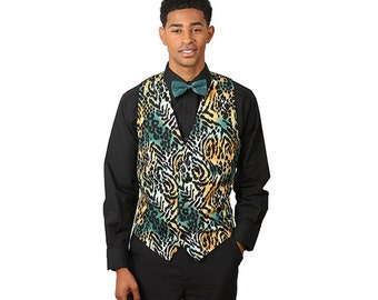 Men's jaguar print vest