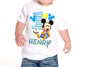 Baby Mickey T-Shirt ~ Mickey Mouse Birthday Shirt ~ PERSONALIZED with name