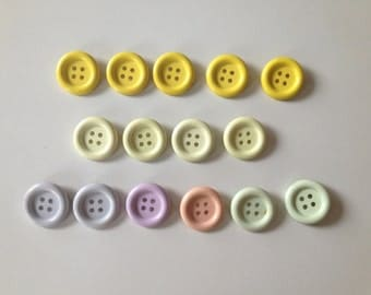 Buttons with Pinned Back
