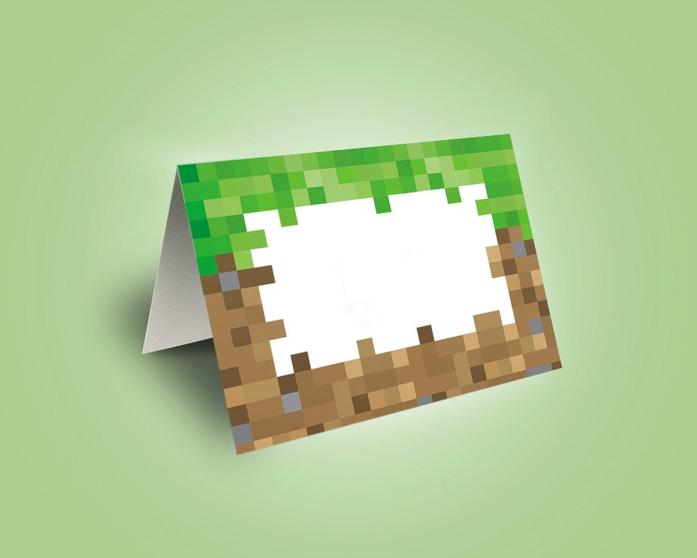 It is a graphic of Universal Minecraft Birthday Food Labels