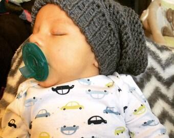 Slouchy knit baby beanie
