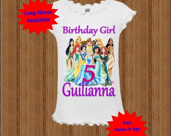 Disney Princess Birthday Shirt