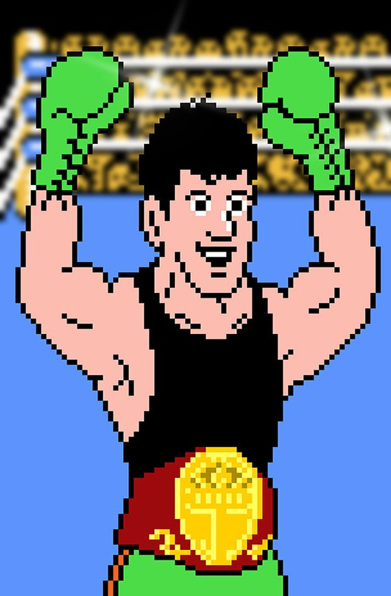 Punch-Out Little Mac video game poster by VGPrint on Etsy