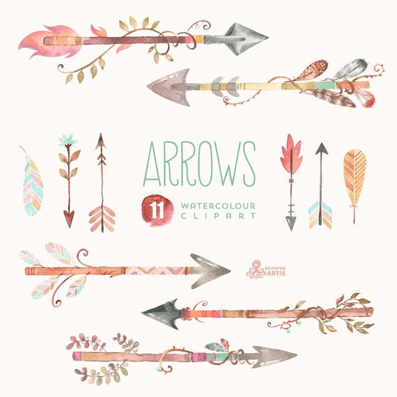 free feathered arrow clip art - photo #23