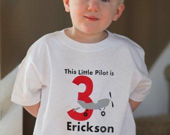Little Pilot Birthday Shirt