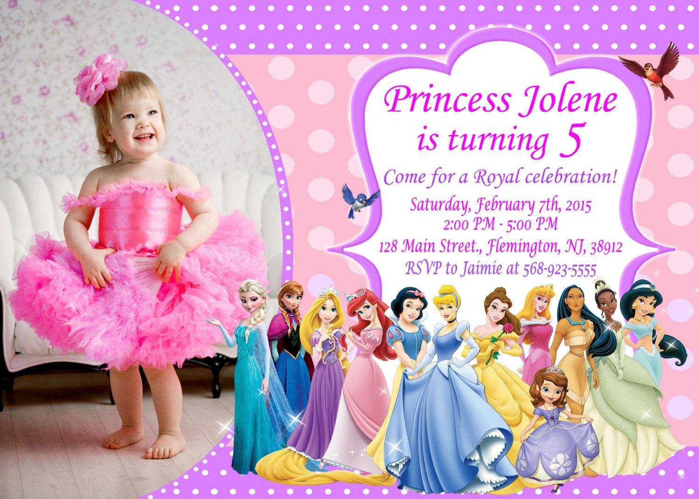 Disney Princess Invitation Birthday Party by ForLittleKids ...