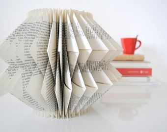 Book lovers' day - Minimalist art - Folded book sculpture - Minimalist decorative object - Minimalist gift