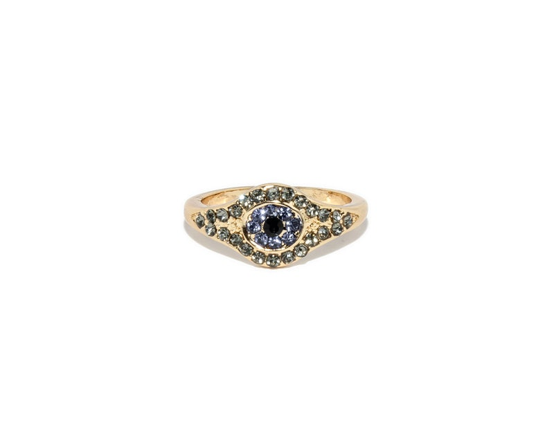 evil eye ring statement ring gold evil eye ring evil eye