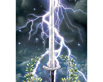 Ace of Swords - Tarot Fine Art Print