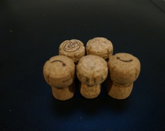 10 Used Natural Champagne Corks