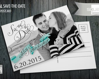 Save-the-Date - Photo Postcards - Custom Wedding Post Cards - Save the Date Photo Postcard - CASAL style - Black & White Photography