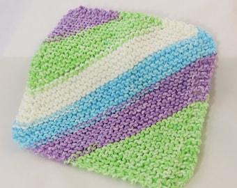 spring handknit Dishcloth, 100 percent cotton dishcloth,Handknit dishcloth, handmade washcloth, kitchen towel, knit towel, knit washcloth,
