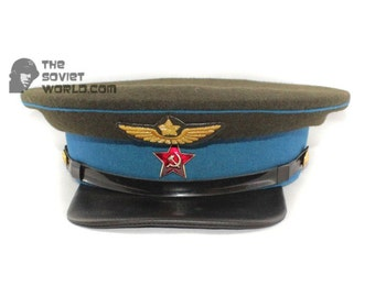 Soviet russian Red Army Aviation Officer's visor cap RKKA hat
