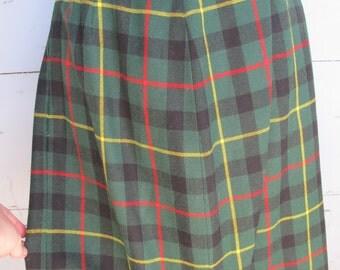 Vintage Tartan school girl skirt