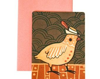 Congratulations Card Congrats Greeting Card - Paper Goods Achievement Congratuations Graduation Card - Feather in your cap
