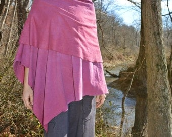 The Super Cowl Poncho in hand dyed organic hemp jersey. Made to order.