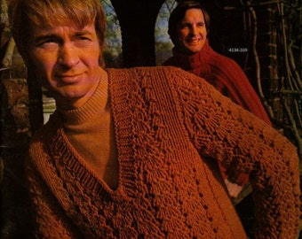 Bernat Men Book 169 - 1970 - Vintage Knitting Patterns
