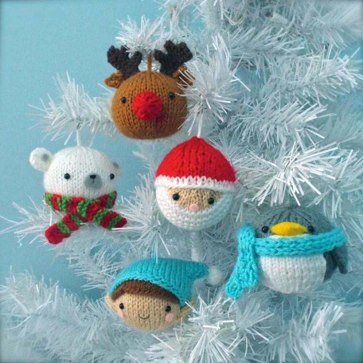 Close Amigurumi Ball : Amigurumi Knit Christmas Balls Ornament Pattern Set by ...
