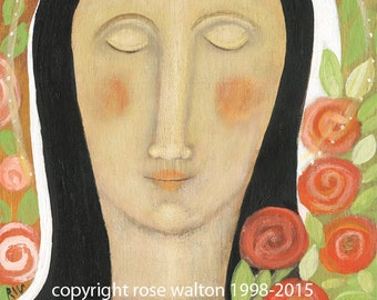 roses for the madonna 2015 by rose walton giclee 11x14 archival print
