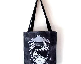SALE -Tote Bag - Regular Day -Printed tote bag with webbing handles