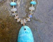 Larimar and Moonstone necklace