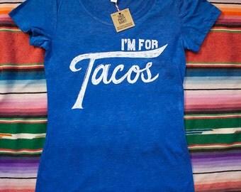 I'm for Tacos Shirt-Royal Blue Heather