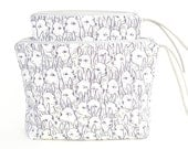 Deer Garden Boxy Zipper Pouch | Original Fabric Design | Cosmetic or Project Bag