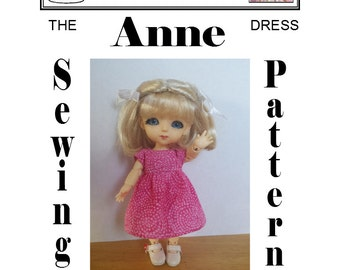 ANNE Dress Sewing Pattern for Latidoll's Lati Yellow (Renewal) BJD
